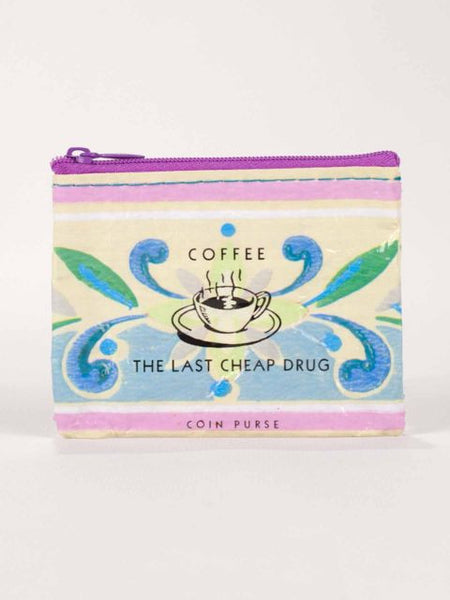 Coffee The Last Cheap Drug Recycled Material Cool Small/Mini Zip Coin/Change Purse/Bag/Pouch/Wallet