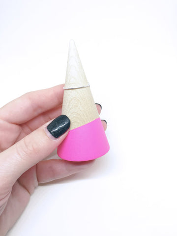 Hot Pink Unicorn Horn Ring Stand