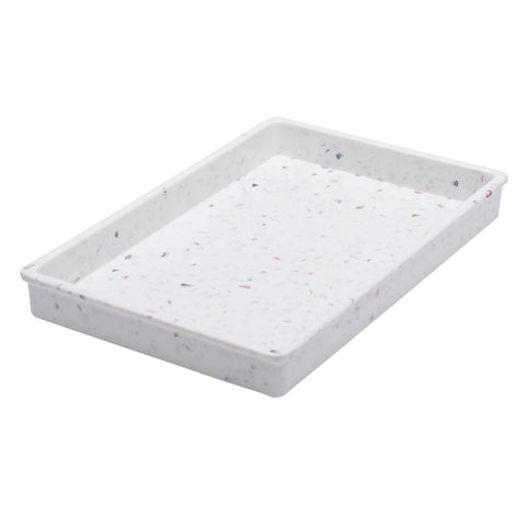 Confetti 7-inch Small Serving Tray in White