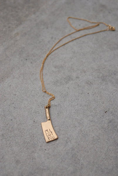 The Betty Collection: I'll Cut You Necklace in Gold