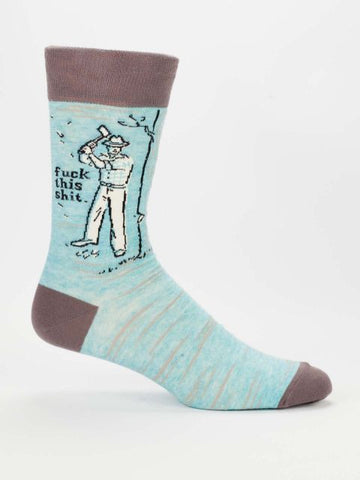 Fuck This Shit Men's Crew Socks, Hipster/Nerdy/Geeky/Trendy, Funny Novelty Socks with Cool Design, Bold/Crazy/Unique Specialty Dress Socks
