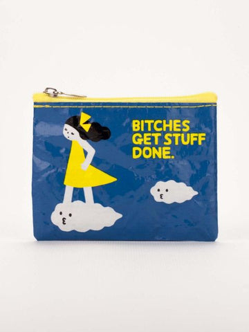 Bitches Get Stuff Done Recycled Material Cool Small/Mini Zip Coin/Change Purse/Bag/Pouch/Wallet