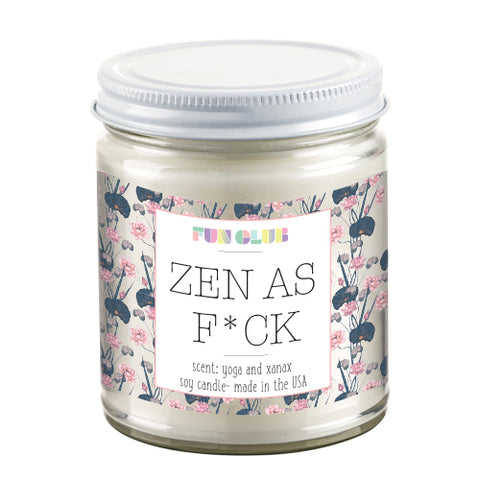 Zen As Fuck Candle in Marine Salt Air Scent