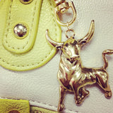 Take the Bull by the Horns Handbag Charm in Gold or Silver