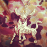 Take the Bull by the Horns Necklace in Gold or Silver