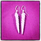 Bullicorn / Unicorn Horn Earrings in Lilac