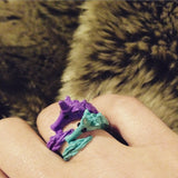 Stabby Unicorn Ring in Blue, Black, Purple, or Mint