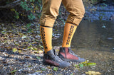 Bourbon Unisex Athletic Knee Socks in Gold and Black