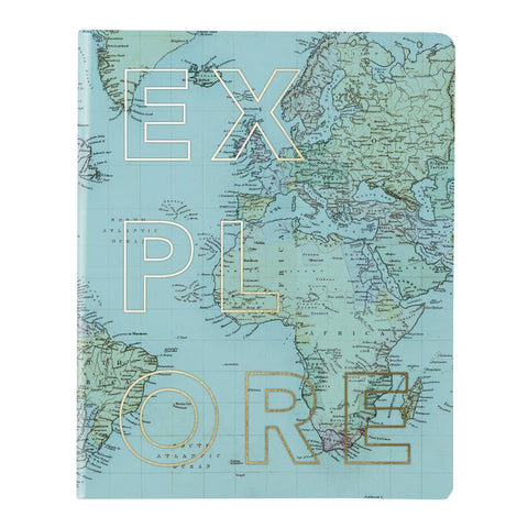 Explore Map Vinyl Undated Planner in Blue