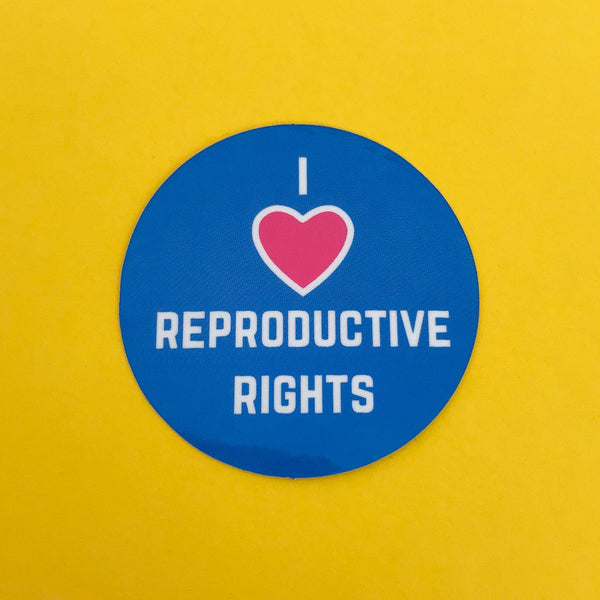 I Love Reproductive Rights Vinyl Sticker