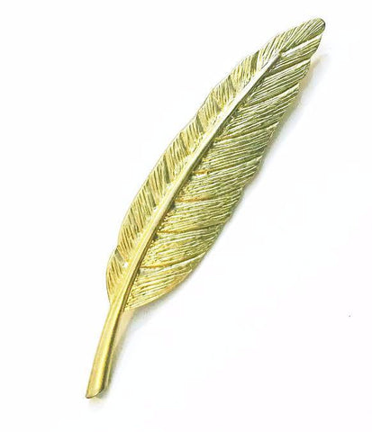 Perfect Gold Feather Brooch