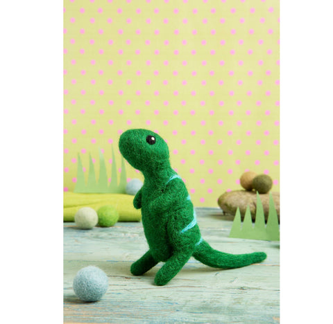 T-Rex Mini Needle Felting Modern Craft Kit | Made in the UK