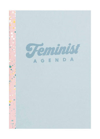 "Feminist Agenda Notebook in Blue | 6.8"" x 9.3"" 