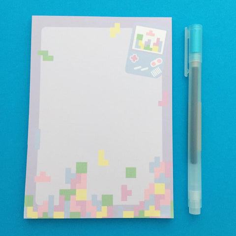 Pastel Gameboy Tetris A6 Notepad