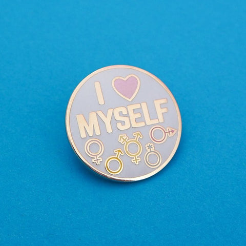 I Love Myself - Enamel Pin in Rainbow