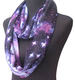 Galaxy Infinity Scarf in Purple, Blue, and Black
