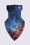 Long Cowl Face Cover | Buff | Scarf | Neckerchief | 6 Color Options: Galaxy, Moon, Floral, Skulls, Tattoo