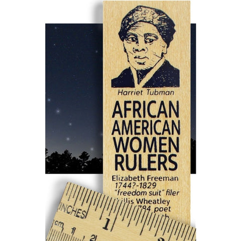 Harriet Tubman African American Women Rulers Wooden Ruler