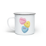 Coffee is Bae Candy Hearts - Enamel Camping Mug