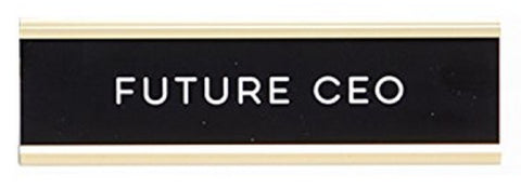 Future CEO Graduation Nameplate in Black, White and Gold