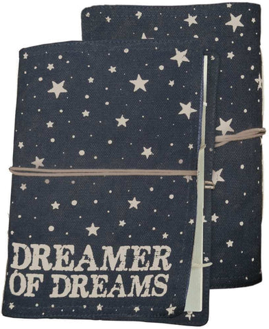 Dreamer of Dreams Journal in Stars and Canvas
