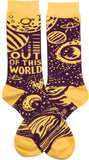 Out Of This World Planets and Moon Funny Novelty Socks with Cool Design, Bold/Crazy/Unique Specialty Dress Socks