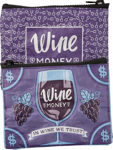 Wine Money / In Wine We Trust Small Zipper Pouch