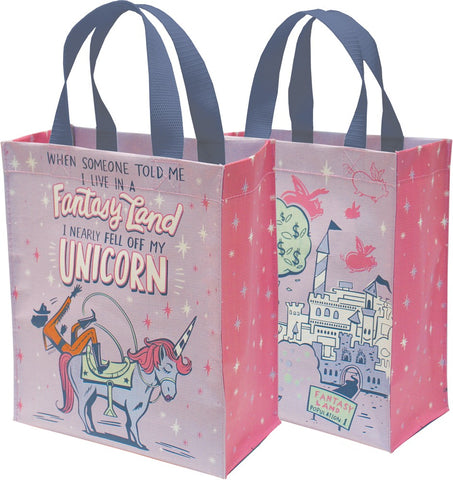 When Someone Told Me I Live In A Fantasy Land, I Nearly Fell Off My Unicorn Tote Bag