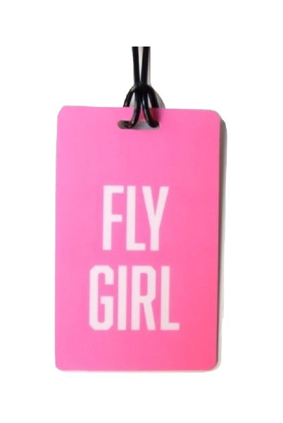 Fly Girl Luggage Tag in Pink