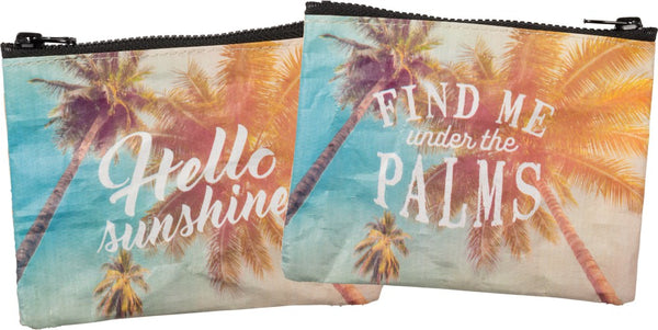 Hello Sunshine / Find Me Under The Palms Small Zipper Pouch