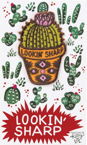 Lookin' Sharp Patch in Succulent Design