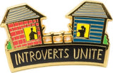 Introverts Unite Enamel Pin and Socks Gift Set Bundle