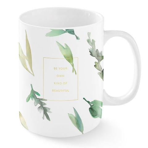 Be Your Own Kind Of Beautiful Eucalyptus Snarky Novelty Coffee Mug, Unique/Sassy/Cute Tea Mug With Funny Quote