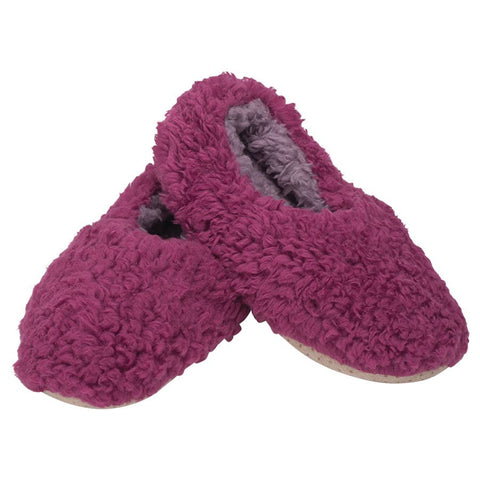 Plush Lined Non-Slip Indoor Soft Slippers in Purple | Soft Spa Fuzzy Slippers | Lady Fluffy House Shoes | Indoor Fur Slippers | Washable