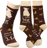 I Like Big Mutts and I Cannot Lie Funny Novelty Socks with Cool Design, Bold/Crazy/Unique/Quirky Specialty Dress Socks