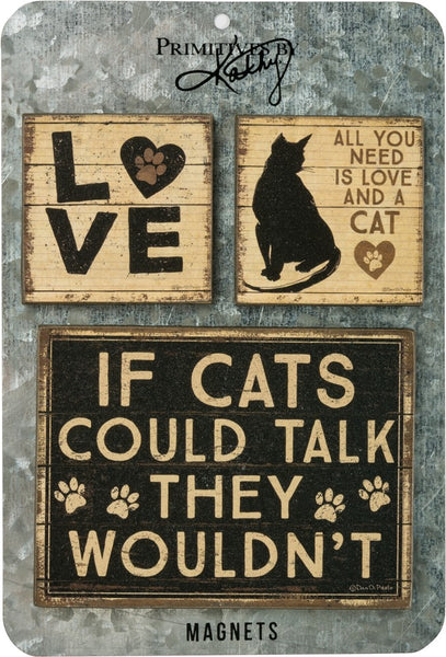 All You Need Is Love And A Cat Magnet Set