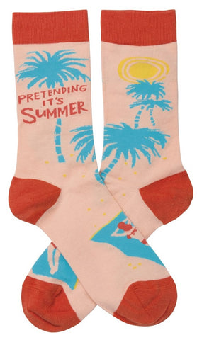 Pretending It's Summer Socks with Tropical Design