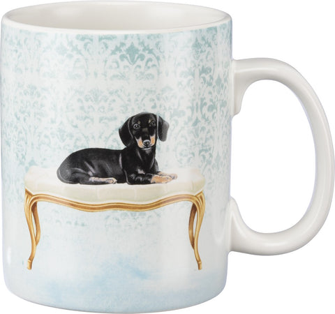 Dachshund And Fancy Ottoman Stoneware Coffee Mug