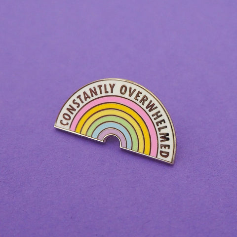 Constantly Overwhelmed Enamel Pin