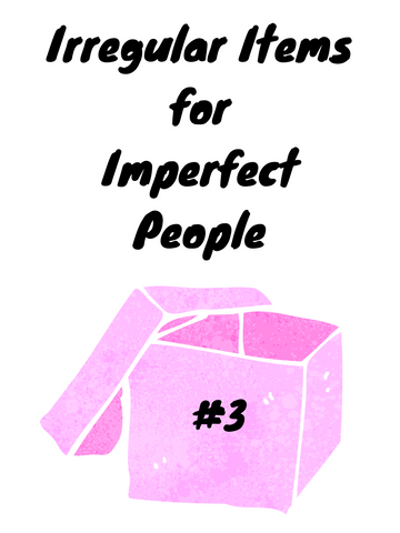 Irregular Items for Imperfect  People Pack #3 (1 only)