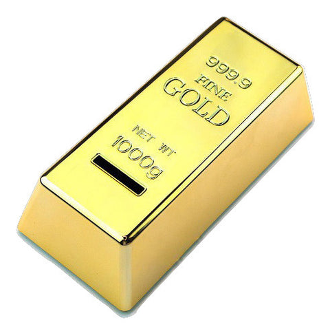 Kitschy Gold Bar Coin Bank