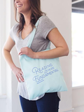 Reading Is Fundamental Canvas Tote Bag in Mint Green | Cute Canvas Bags for Work or School