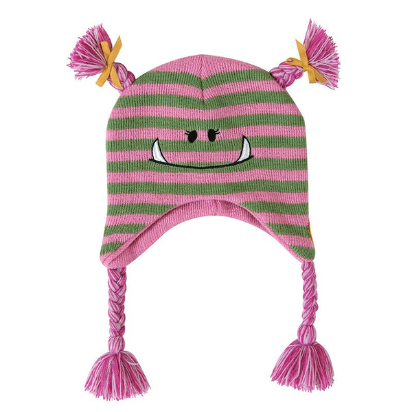 Monster Knit Baby Hat in Pink | 6-24 Months