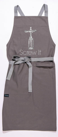 Screw It Apron in Grey