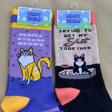 People Stress Meowt Women's Crew Socks
