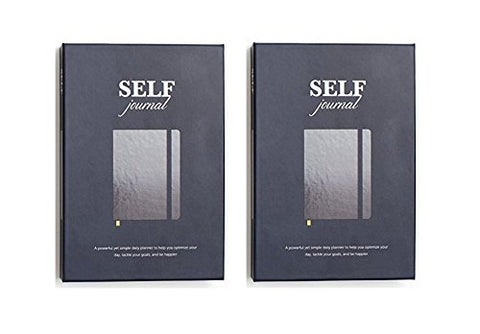 SELF Journal 2 Pack: The Original Agenda Daily Planner and Appointment Notebook to Achieve Goals & Increase Productivity and Happiness (+ FREE US SHIPPING)