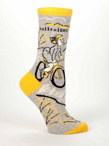Hellraiser Women's Crew Socks in Yellow