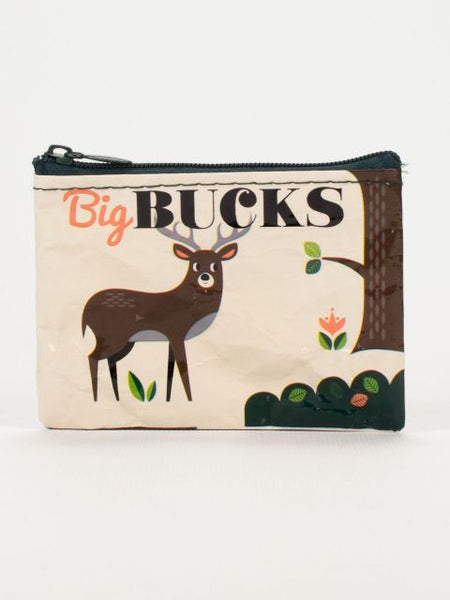 Big Bucks Coin Purse in Bark and Natural