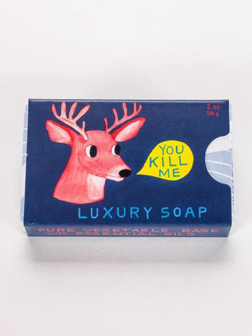 You Kill Me Soap in White Tea and Violet (Deer)