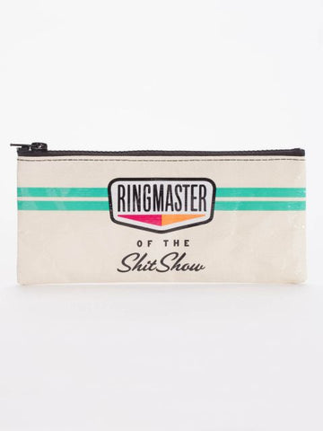 Ringmaster of Shitshow Pencil Case with Green Stripes